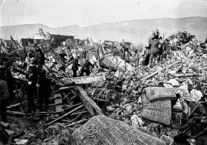 Avezzano 1915 Earthquake that killed 9000 persons in Avezzano alone